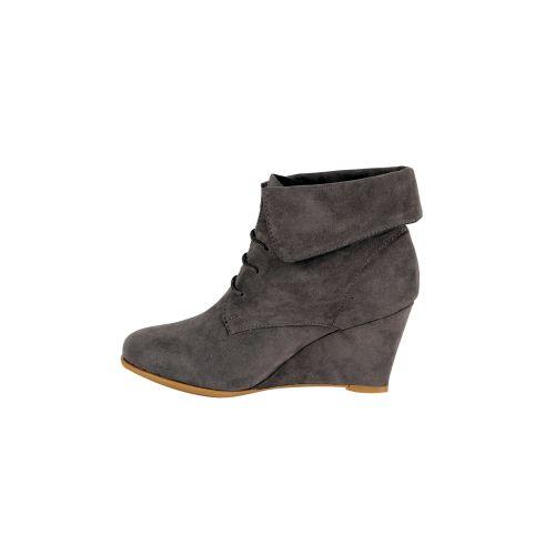 Damen Stiefeletten Ankle Boots - Grau