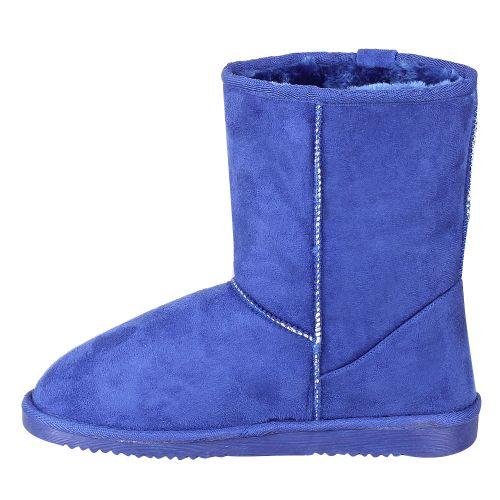 Damen Stiefeletten Schlupfstiefeletten - Blau
