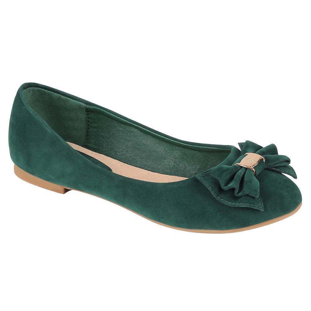 Damen Ballerinas Klassische Ballerinas - Grün