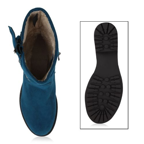 Damen Stiefeletten Klassische Stiefeletten - Blau