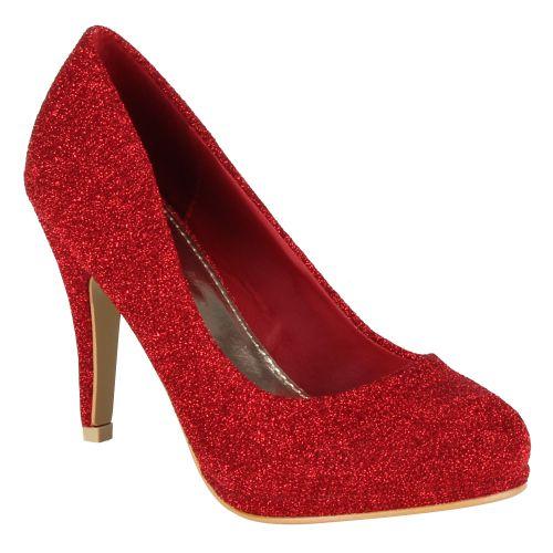 Damen Pumps High Heels - Rot