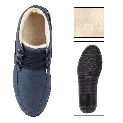 Herren Halbschuhe Bootsschuhe - Blau