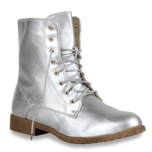 Damen Klassische Stiefeletten - Silber