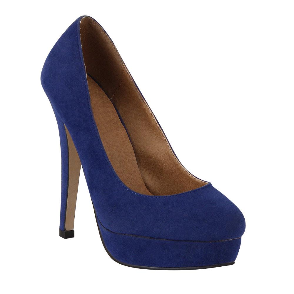 damen pumps in blau 95580 153. Black Bedroom Furniture Sets. Home Design Ideas
