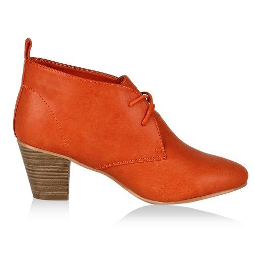 Damen Pumps High Heels - Orange