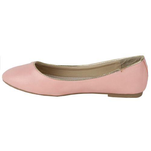 Damen Ballerinas Klassische Ballerinas - Rosa - Rockwood