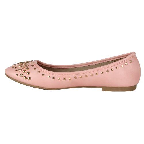 Damen Ballerinas - Rosa - Webbville