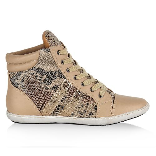 Damen Sneaker high - Beige