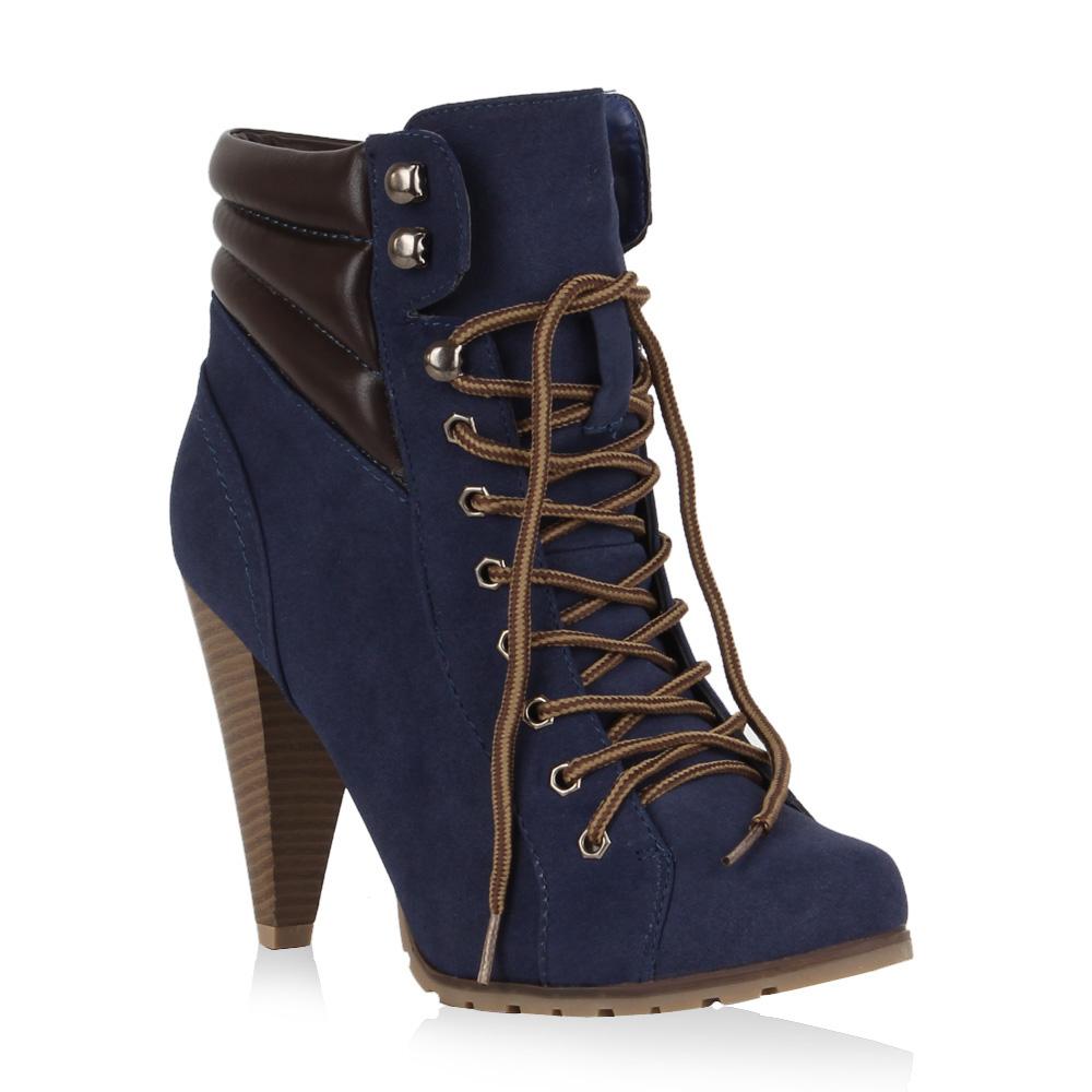 Damen Stiefeletten High Heels - Blau