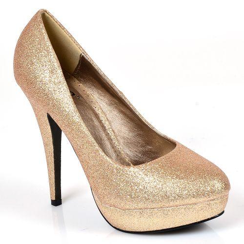 Damen Plateau Pumps - Gold