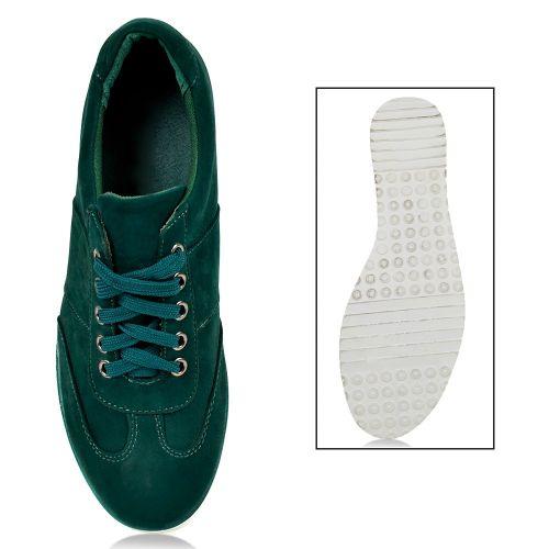 Damen Sneaker low - Dunkelgrün