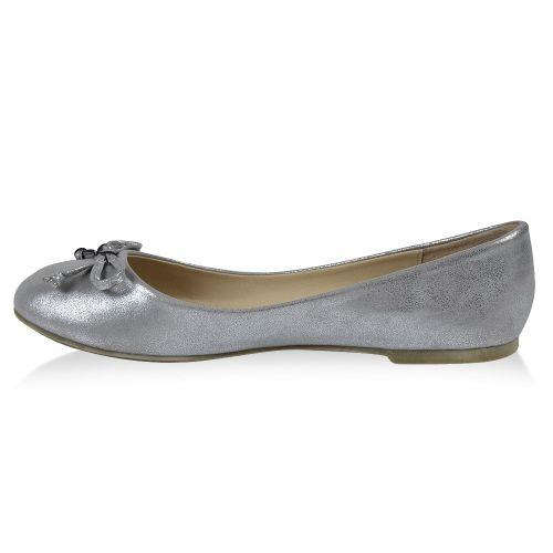 Damen Klassische Ballerinas - Silber