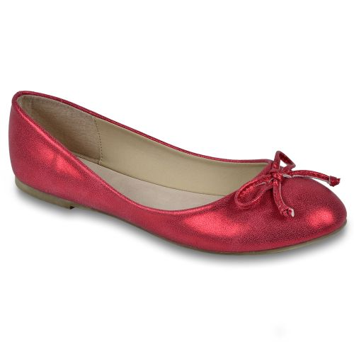 Damen Ballerinas Klassische Ballerinas - Rot
