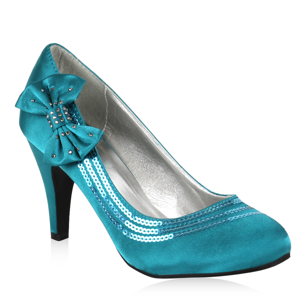 Damen Pumps High Heels - Türkis
