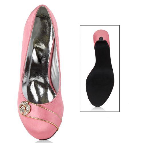 Damen Pumps High Heels - Rosa - Bethel