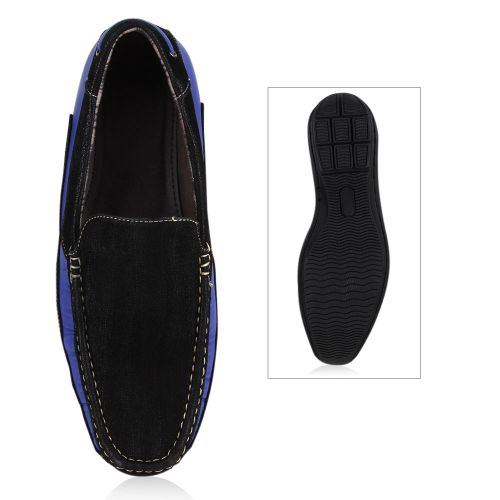 Herren Klassische Slippers - Schwarz Blau