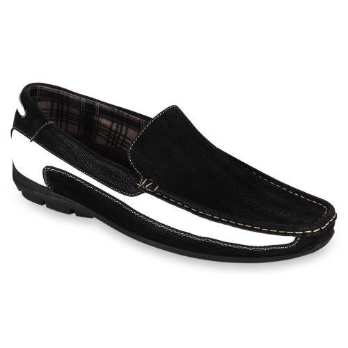 Herren Klassische Slippers - Schwarz Weiß
