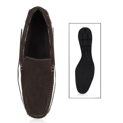 Herren Klassische Slippers - Braun Weiß