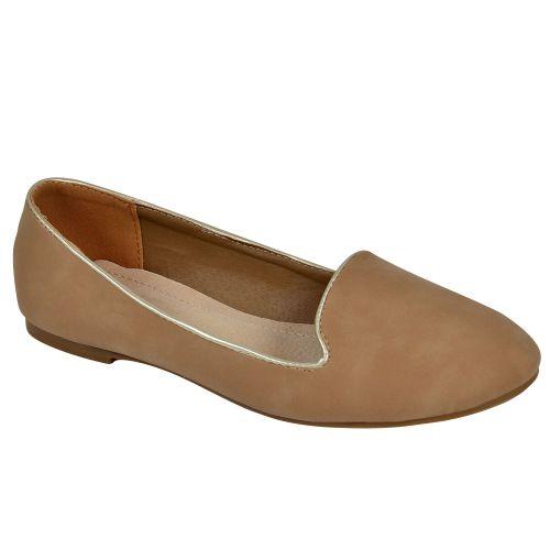 Damen Slippers Loafers - Khaki