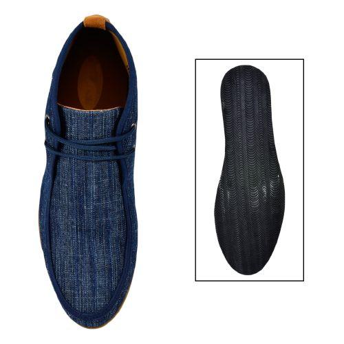 Herren Boots Desert Boots - Hellblau