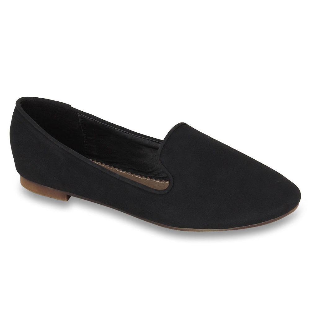 superior quality 2b2aa 8f817 Damen Slippers Loafers - Schwarz