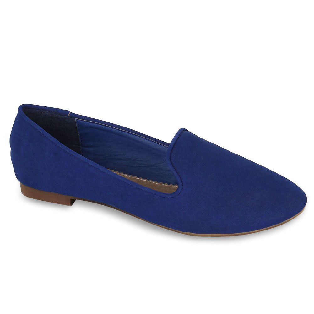 Damen Slippers Loafers - Blau