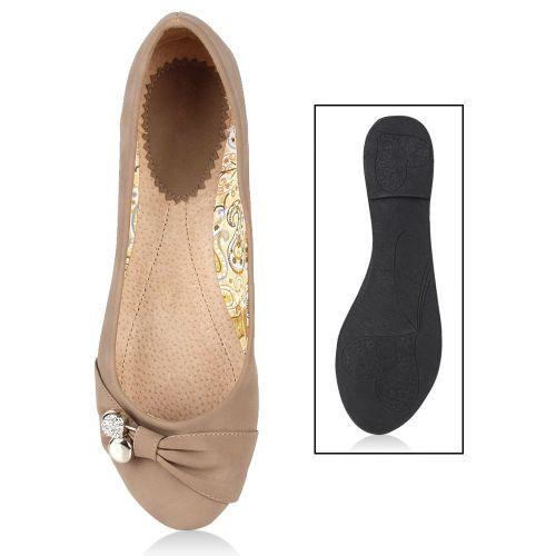 Damen Ballerinas Klassische Ballerinas - Taupe