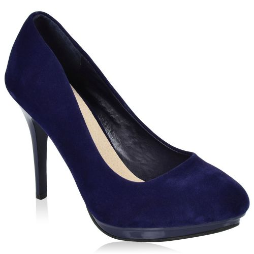 Damen Pumps High Heels - Dunkelblau