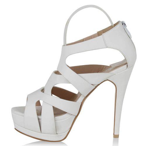 Damen Sandaletten High Heels - Weiß