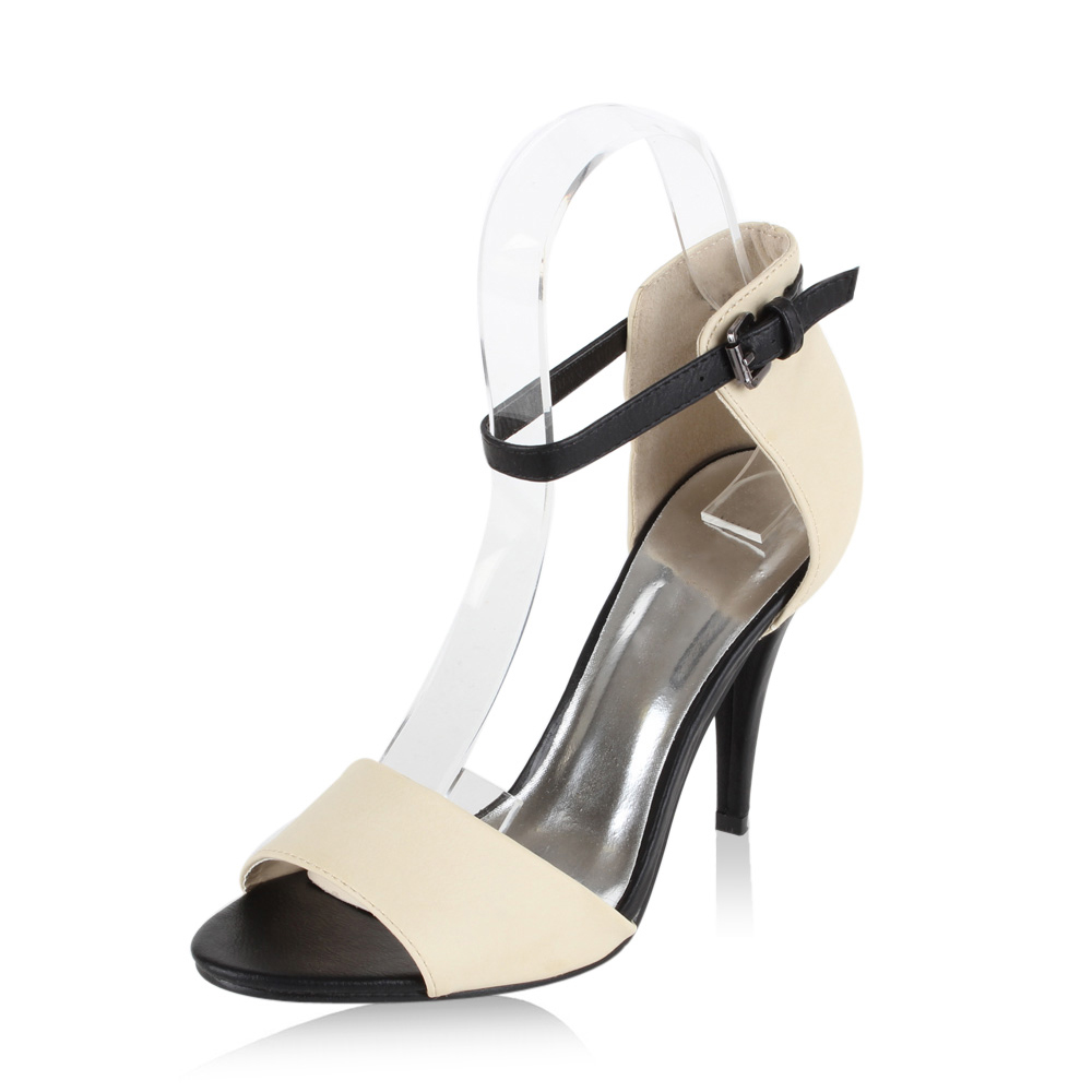 Damen Sandaletten High Heels - Beige