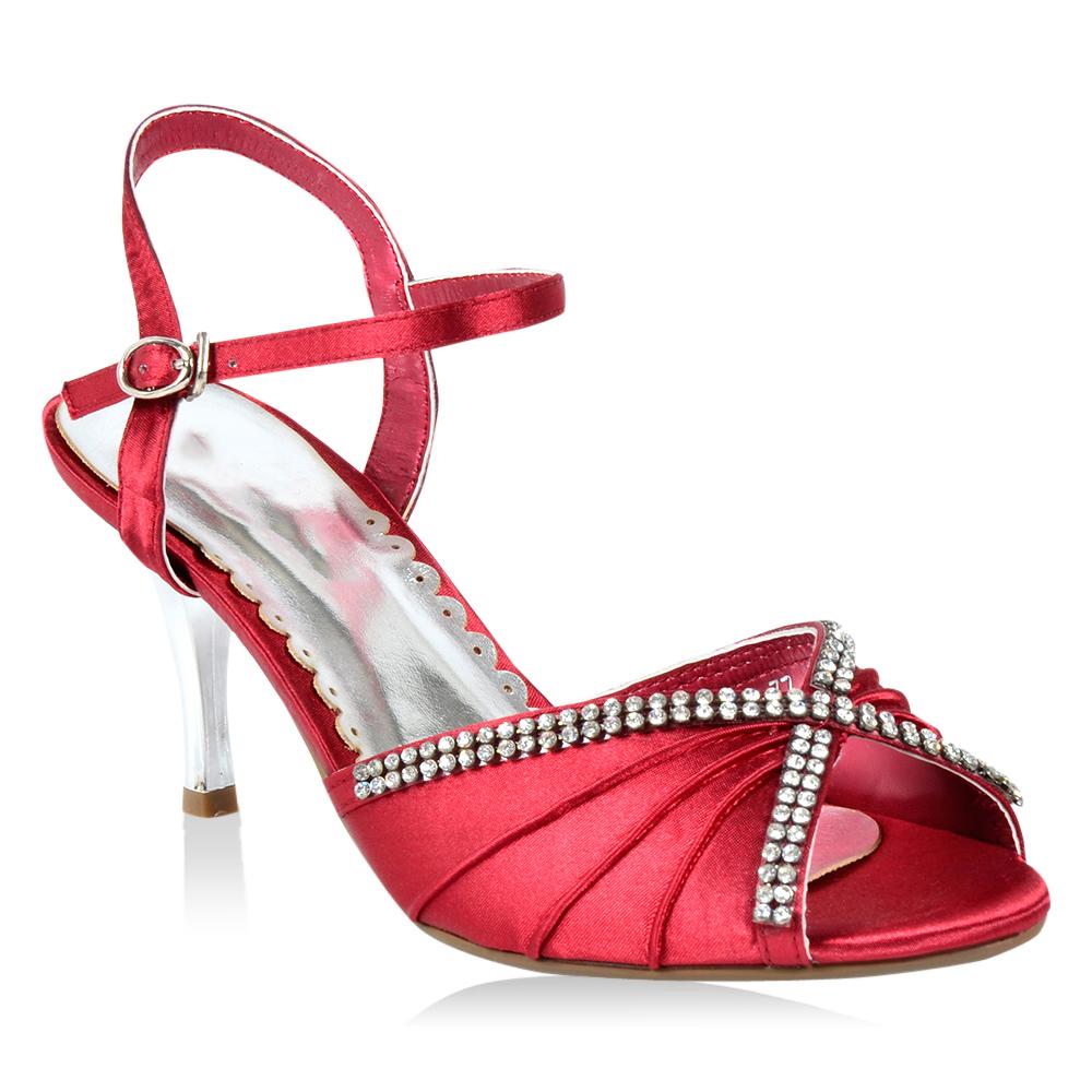 Damen Sandaletten Klassische Sandaletten - Dunkelrot