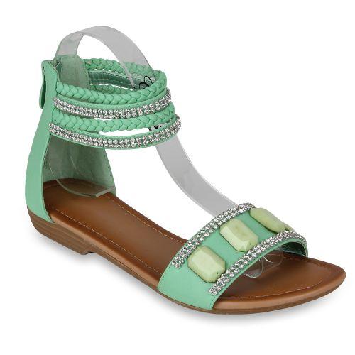 Damen Komfort Sandalen - Hellgrün