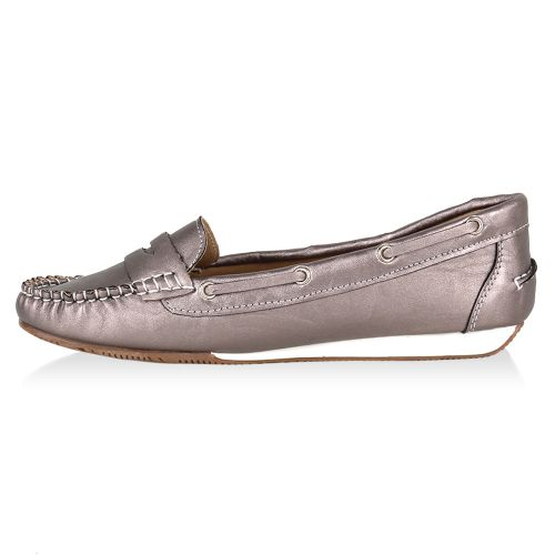 Damen Ballerinas Loafers - Grau