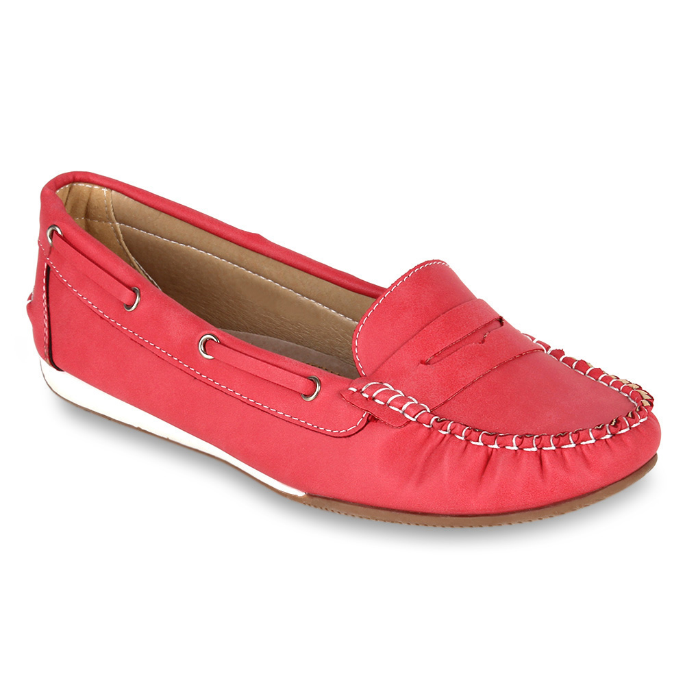 Damen Ballerinas Loafers - Coral