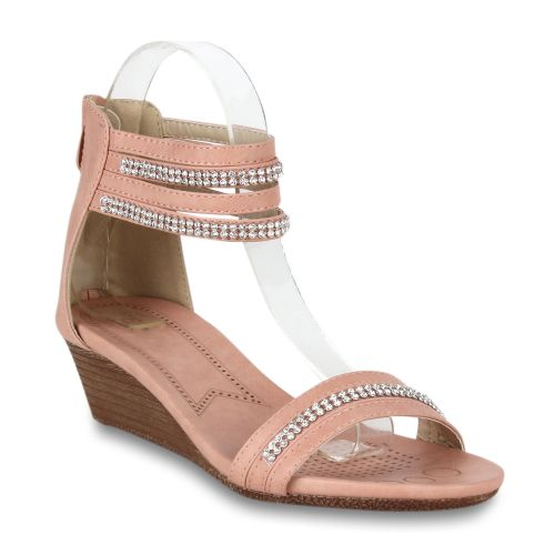 Damen Sandaletten Klassische Sandaletten - Apricot
