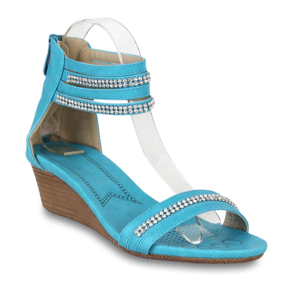 Damen Klassische Sandaletten - Türkis