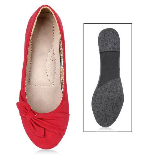 Damen Klassische Ballerinas - Rot