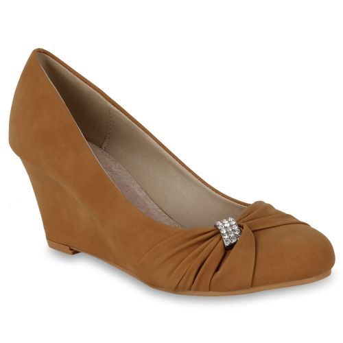 Damen Pumps High Heels - Hellbraun