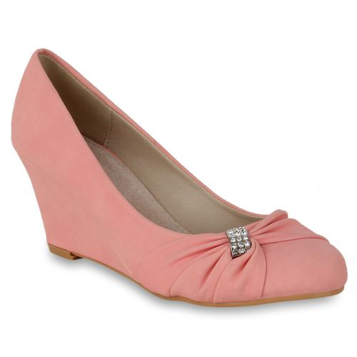 Damen Pumps High Heels - Apricot