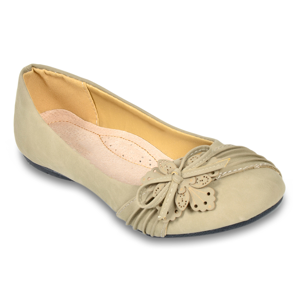 Damen Ballerinas Klassische Ballerinas - Schlamm