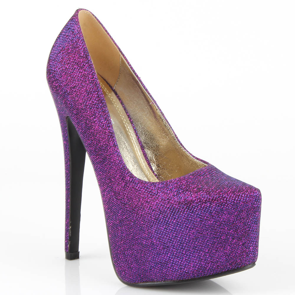 Damen Pumps High Heels - Lila