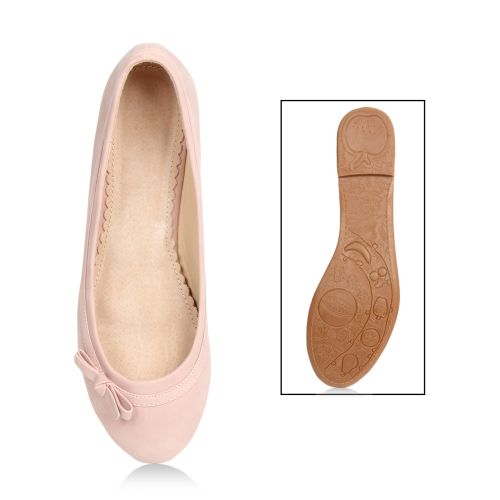Damen Ballerinas - Rosa - Clendenin