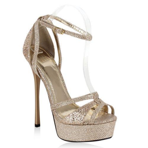 a93397787b9788 Damen Sandaletten in Gold (96424-155) - stiefelparadies.de