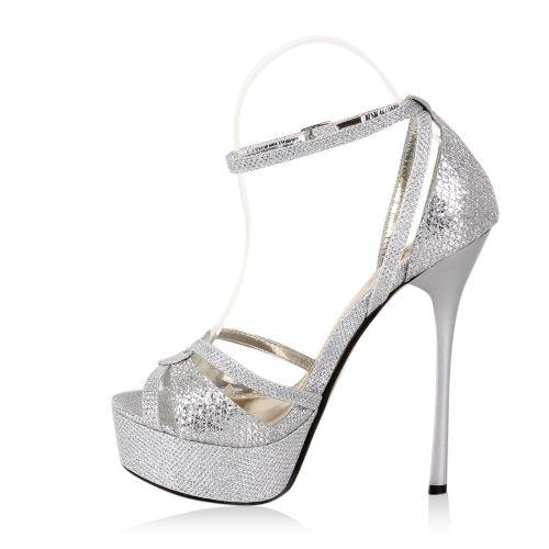 Damen Sandaletten in Silber (96424-526) - stiefelparadies.de 29978acd21
