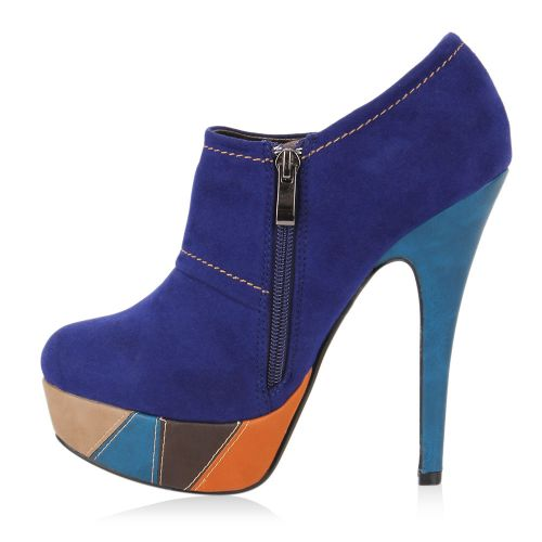 Damen Pumps Hochfrontpumps - Blau