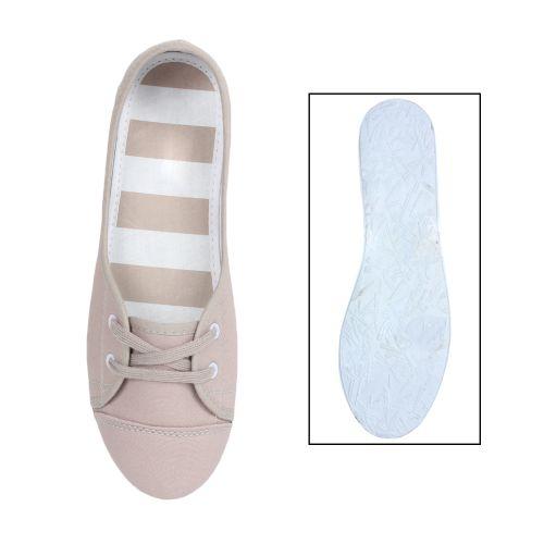 Damen Sportliche Ballerinas - Grau
