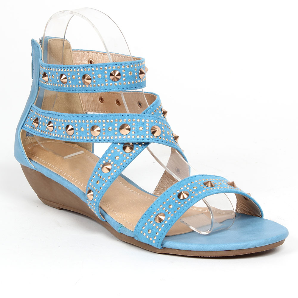 Damen Komfort Sandalen - Hellblau