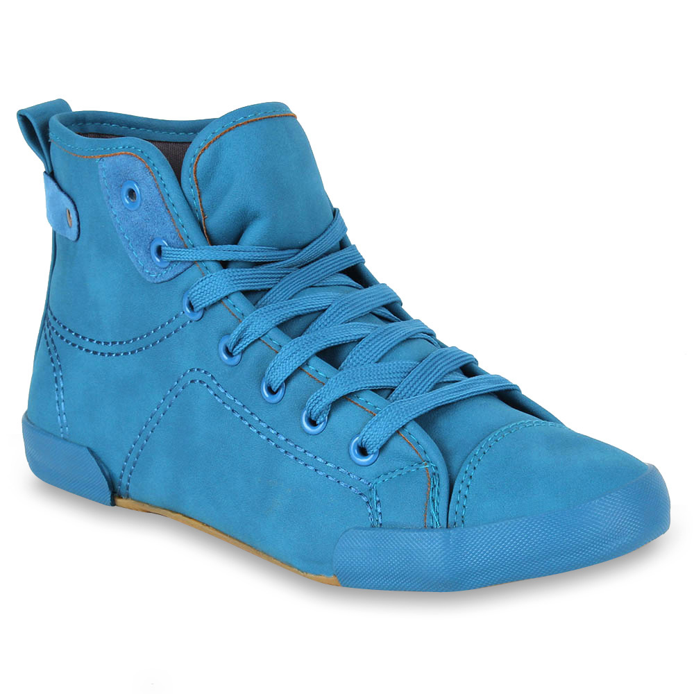 Damen Sneaker high - Türkis