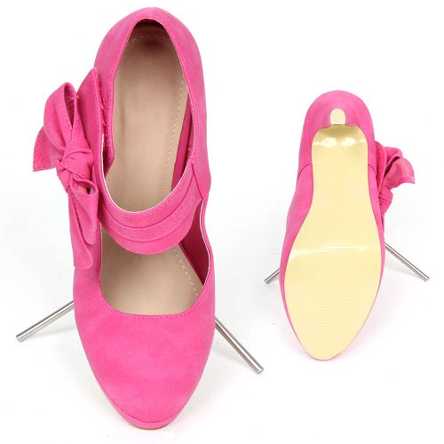 Damen Pumps High Heels - Fuchsia