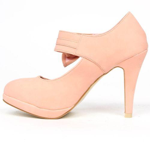 Damen Pumps High Heels - Apricot